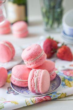 Strawberry Rose Macarons Recipe