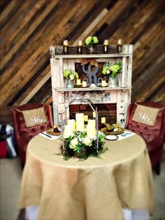 Bride and groom table by Original Grace Events at White Acre Farms Dadeville.  www.OriginalGraceEvents.com