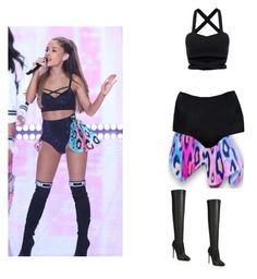 """Ariana Grande PINK failure"" by gfashionchic on Polyvore featuring ASOS, Giuseppe Zanotti, women's clothing, women, female, woman, misses and juniors"