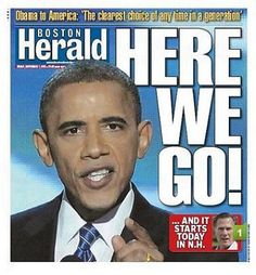 Newspaper - Front Page - Boston Herald (September 7 2012) - Barack Obama
