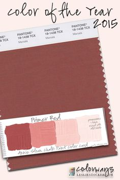 December 8, 2014. Pantone color of the year for 2015. Marsala