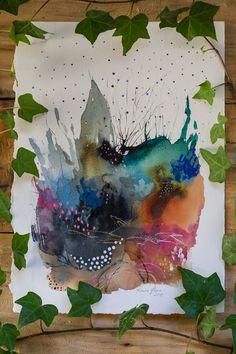 Abstract Watercolor, Watercolor Paper, Watercolor Paintings, Abstract Art, Watercolours, Van Gogh Art, Painting Process, Mixed Media Painting, Henri Matisse