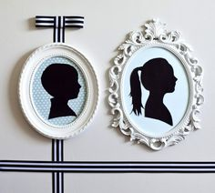 DIY Home Decor Wall Art: Simple Silhouettes Wall Art