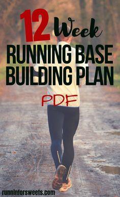 12 Week Running Base Building Training Plan – Running Running Training Programs, Running Training Plan, Training For A 10k, Running Workouts, Running Tips, Running Schedule, Marathon Training For Beginners, Half Marathon Training Plan, Running For Beginners