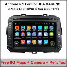Quad Core Android 5.1.1 car audio FOR KIA CARENS Optima Picanto Magenta car dvd player head device car multimedia car stereo