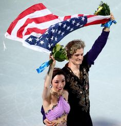 Meryl Davis and Charlie White, 2014 Olympic gold medalists. The first gold medal ever for USA in ice dancing
