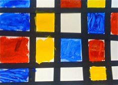Kids Art Market: Primary colors with Mondrain Three Primary Colors, Warm And Cool Colors, Art Students League, Student Drawing, Piet Mondrian, Dutch Painters, Yellow Painting, Red Paint, Color Theory