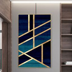 Framed Wall Art Modern Geometric Gold Navy Blue Simple Nordic Abstract Design Gold Art on Canvas Large Wall Art Cuadros Abstractos – طرح – Hausmit Modern Wall Art, Large Wall Art, Framed Wall Art, Wall Art Decor, Modern Canvas Art, Large Wall Paintings, Large Walls, Modern Frames, Mural Wall Art