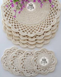 Pattern crochet coasters, Coffee Time Doily, Tea time Crochet Doilies, crochet rug pattern, hygge home decor (tutorial PDF file) Crochet Mat, Crochet Motifs, Crochet Round, Crochet Home, Hand Crochet, Filet Crochet, Doily Patterns, Knitting Patterns, Crochet Patterns