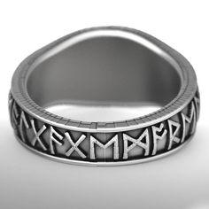 Custom Oden's Ravens & Helm of Awe Rune Ring, Mens Wedding Band, Sterling Silver 1160 Bear Wedding, Wedding Men, Wedding Bands, Celtic Knot Ring, Celtic Rings, The Hundreds, Irish Wedding Rings, Viking Wedding, Runes