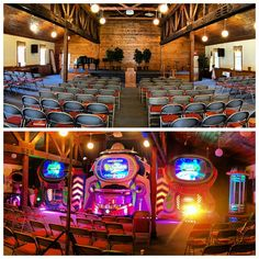 What a great week, sharing the Gospel with the campers of New England AG Kids Camp! here's a before/after shot of our invasion in the Tabernacle at Rumney Bible Conference, in Rumney, NH #AlienChurchMakeover #kidmin #vbs