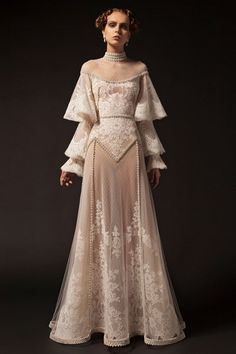 party Outfit Krikor Jabotian 2019 New Evening Dresses High Neck Lace Applique Long Sleeve Beading Formal P. Krikor Jabotian 2019 New Evening Dresses High Neck Lace Applique Long Sleeve Beading Formal Party Dress Vintage Pageant Evening Gowns After Prom Dresses, Prom Gowns, Pretty Dresses, Beautiful Dresses, Beautiful Evening Gowns, Gorgeous Dress, Fantasy Dress, Mode Inspiration, Costume Design