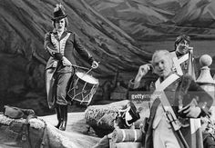 Australian soprano Joan Sutherland (1926 - 2010, left) in a production of Donizetti's comic opera 'La Fille du Regiment' at Covent Garden Opera House, London, 27th May 1966.