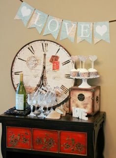 Vintage Map Dessert Table | Haute Chocolate - Personalized Party Printables for Life's Sweet Celebrations