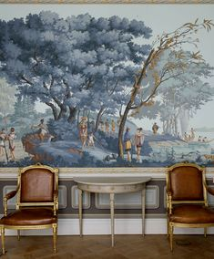1000 images about zuber murals on pinterest for Colonial mural wallpaper