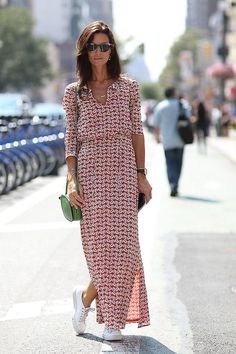 simple maxi silhouette with side slit
