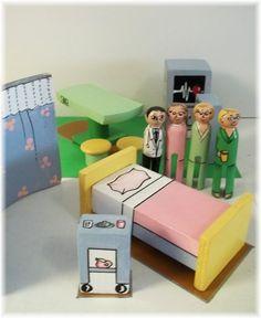 Dollhouse Furniture - Hospital Room