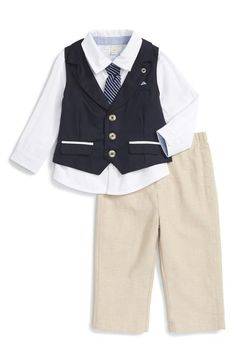 Miniclasix Shirt, Tie, Vest & Pants Set (Baby Boys) available at #Nordstrom