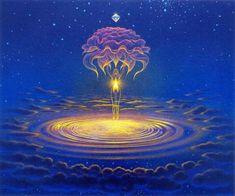 Fantasy Landscape, Fantasy Art, Psychadelic Art, Thai Art, Witch Art, Environment Concept Art, Buddhist Art, Visionary Art, Art Sketchbook
