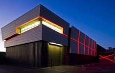 Mullen Heller Architecture. Located in Albuquerque's historic Sawmill District on a nearly unbuildable lot, the new warehouse for Chaparral Electric met the owner's goals of accommodating their storage needs while obliterating the conventional notion of warehouse design.