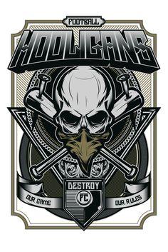 on sale 640d6 752de HOOLIGANS. on Behance Graffiti Lettering, Skull Art, Character  Illustration, Maori, Urban
