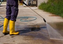 Concrete Painting & Sealing Cleaning at Powerwash - HIgh Pressure Cleaning