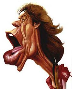 Artist:Jan Op De Beeck   Caricature:Mick Jagger