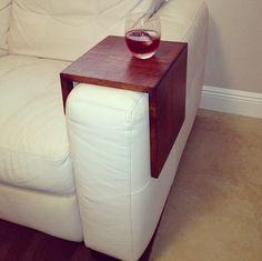 So smart  https://www.etsy.com/listing/160173253/armrest-side-table