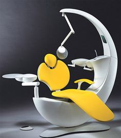 Dentist chair. That which is intended to make it relaxing makes it terrifying. A little like Eve from Wall-E