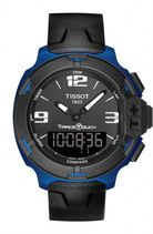Tissot T-Race Touch Quartz Analog and Digital Black Rubber Watch# T081.420.97.057.00 (Men Watch)