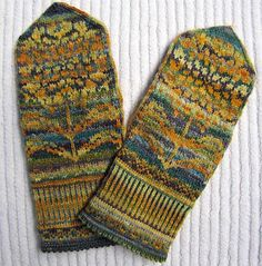 love the colours stranded knitting mittens