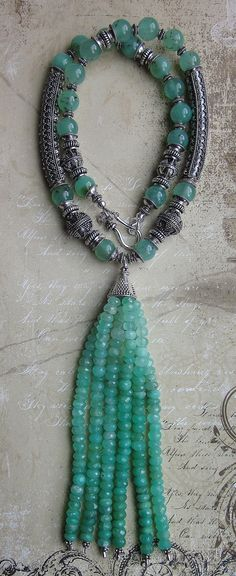 Enchanted Mint  Genuine Natural Chrysoprase  by JKDKdesigns, $265.20