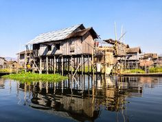 Floating Village in Inle Lake
