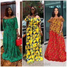 2020 Elegant and Exceptional Ankara Gowns Styles For Beautoful Ladies to check Stunning And Stylish Styles in Vogue African Dresses For Kids, Latest African Fashion Dresses, African Dresses For Women, African Print Fashion, African Attire, Ankara Long Gown Styles, Ankara Gowns, Ankara Styles, African Fashion Traditional