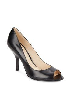 Nine West Peep Toe Black Pumps