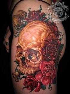 Skull & Roses tattoo...