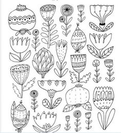 New drawing line flower coloring pages 49 Ideas Flower Coloring Pages, Colouring Pages, Coloring Books, Ink Doodles, Flower Doodles, Botanical Line Drawing, Botanical Art, Line Flower, Flower Art