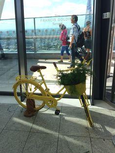 bicycle display at sky garden, london