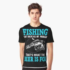 Fishing T Shirts, Vivid Colors, Female Models, Funny Tshirts, How To Make, How To Wear, Printed, Awesome, Mens Tops