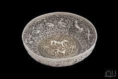 A Rare Ottoman Parcel-Gilt Repousse Silver Bowl, Balkans, Century. - November 2015 - New Items November 2015, 18th Century, Decorative Bowls, Ottoman, Greek, Art, Metal, Silver, Art Background