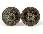 Vintage Coin Cufflinks, Men's Cufflinks