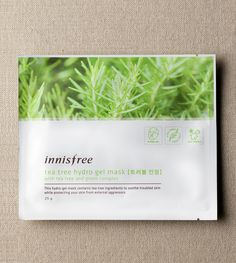 Tea tree hydro gel mask::Hydro gel mask with tea tree ingredients to soothe and protect troubled skin