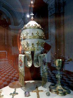 Tiara of Pope John XXIII presented to the John XXIII by the people of Bergamo when he was elected Supreme Pontiff 1958