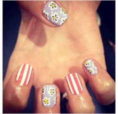 Love candy stripes with flowers