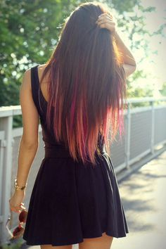 brown hair with rainbow highlights - Google Search