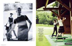 visual optimism; fashion editorials, shows, campaigns & more!: golf: sofya titova by ugo richard for madame figaro 6th september 2013