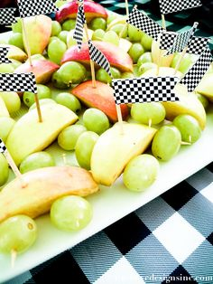 Monster Truck Party fruit cars with flags
