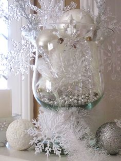 winter wonderland centerpieces | winter wonderland : Beaux and Belles
