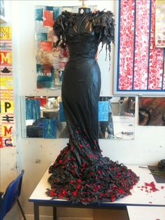 Snow White and the huntsman inspired dress made from bin bags