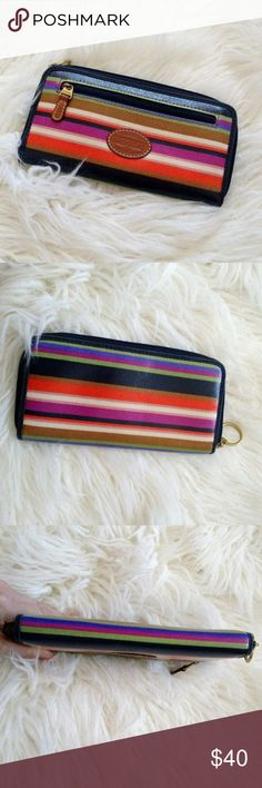 7930668c22cc7 Fossil Rainbow Multicolored Striped Wallet